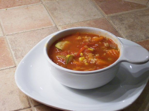 I wanted to create a great vegetable soup that I could make at home. I love Panera Breads Garden Vegetable, so I decided to use that as inspiration for my own recipe and it turned out even better!