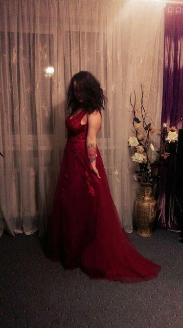 Robe De Soirée 2016 Wine Red Lace Beading Sexy Backless Longos Vestidos de Noite Da Noiva Banquete Elegante do Assoalho-comprimento vestido de Festa Vestido do baile de finalistas Loja Online | aliexpress móvel