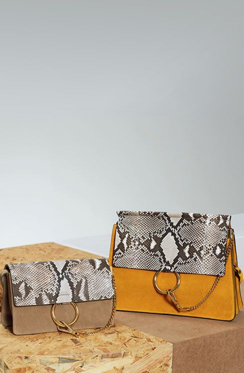 fake chloe purses - CHLOE FAYE SMALL CLUTCH WITH LEATHER STRAP IN NATURAL PATTERN ...