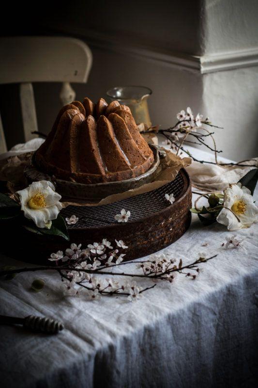 linda lomelinos banana cake with bourbon caramel