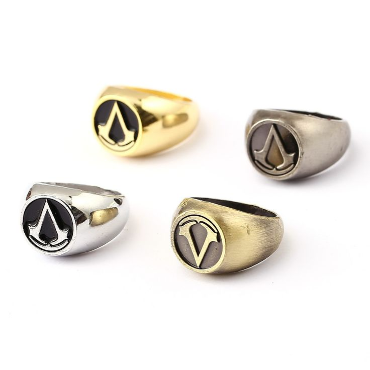 Assassins Creed Ring Hot Game Gold Silver Men Women Rings Cosplay male Jewelry Friendship Gift YS11647