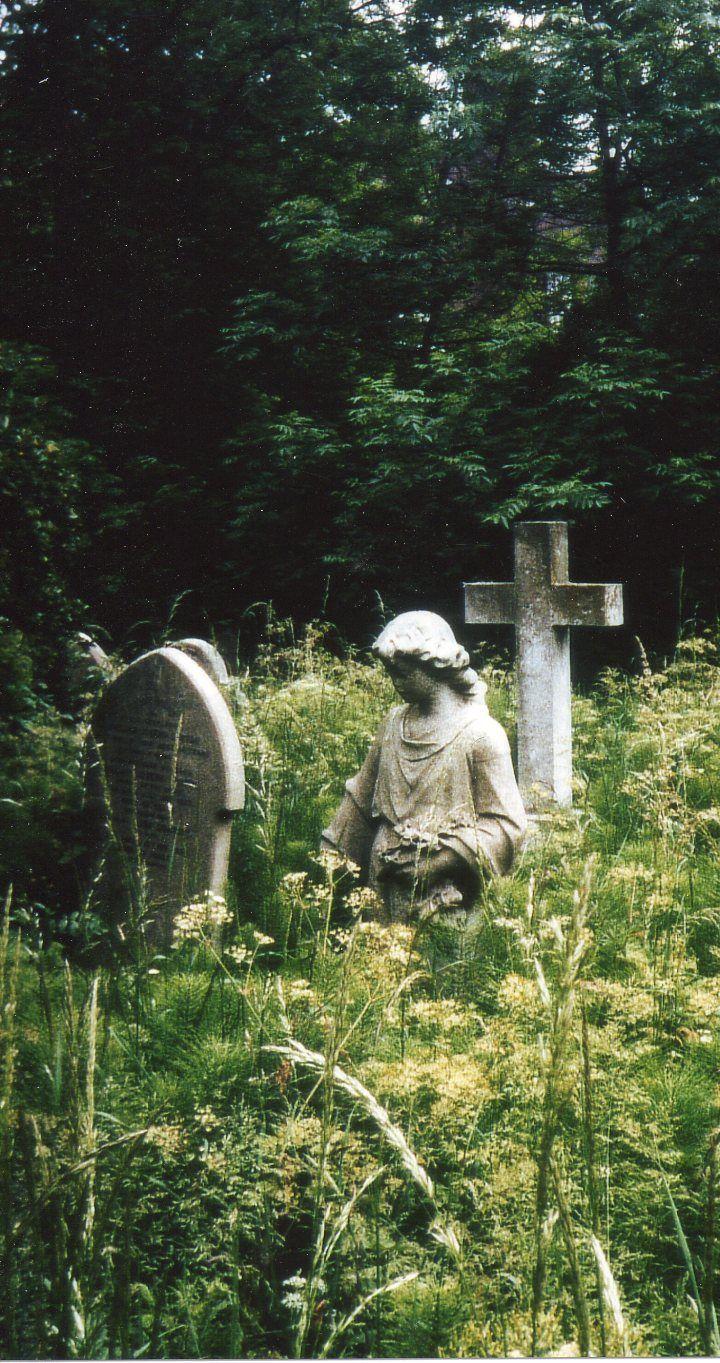 London's Highgate Cemetery in summer from cemeterytravel.com