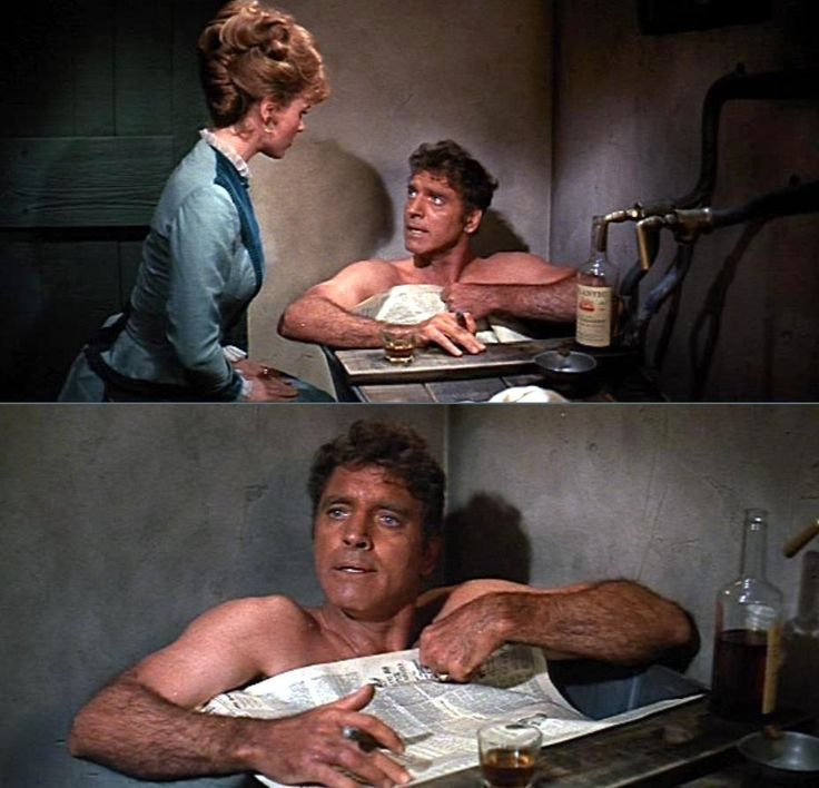 0 bath time - burt lancaster in The Hallelujah Trail (1965)