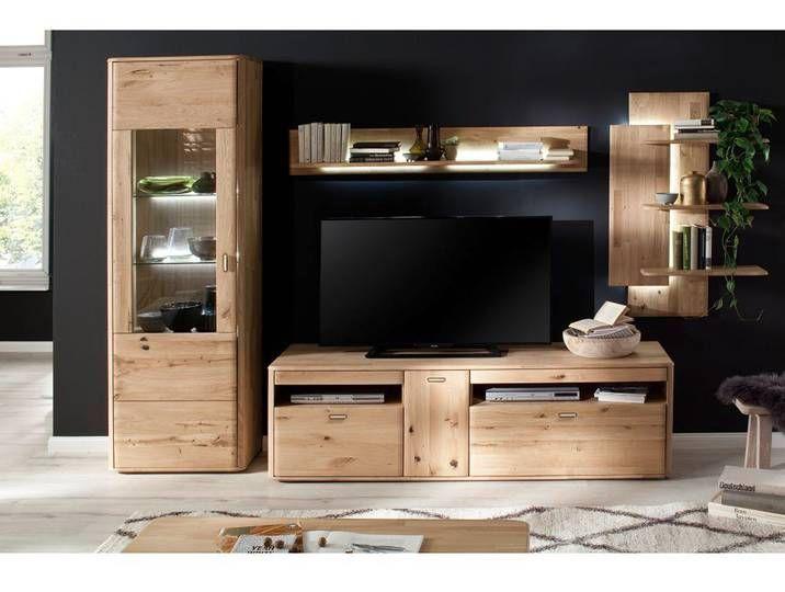 Tv Wohnzimmer Wohnwand Rosario 05 Aus Balkeneiche Bianco Massiv Mit B Home Decor Furniture Decor
