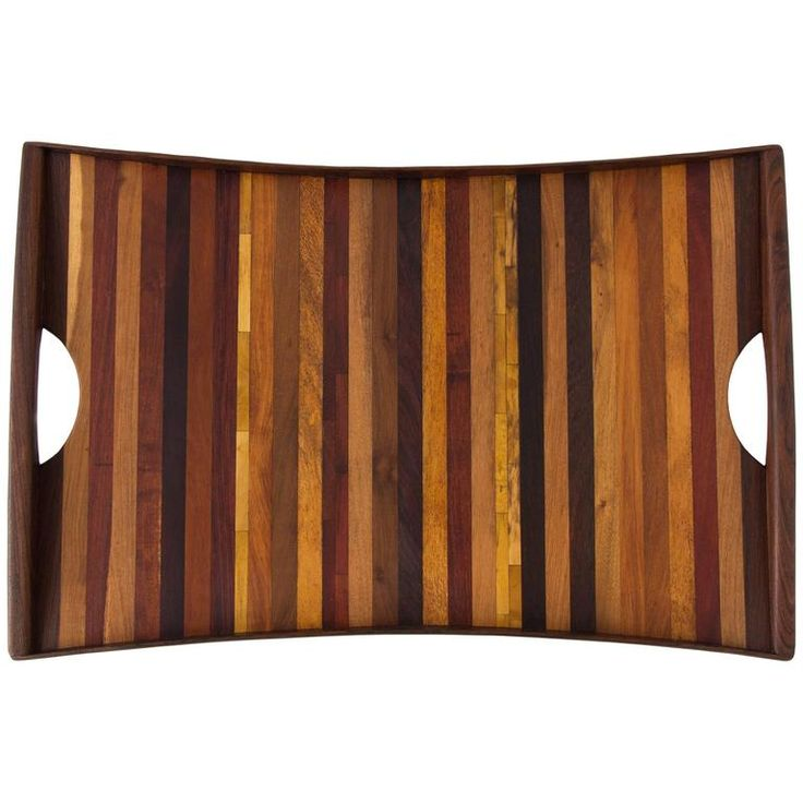 Large Rosewood Tray with Handles by Don Shoemaker for Señal | From a unique collection of antique and modern platters and serveware at https://www.1stdibs.com/furniture/dining-entertaining/platters-serveware/