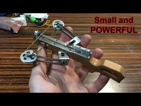 Reverse Draw Mini Compound Crossbow | MAKING (+Shooting) - YouTube