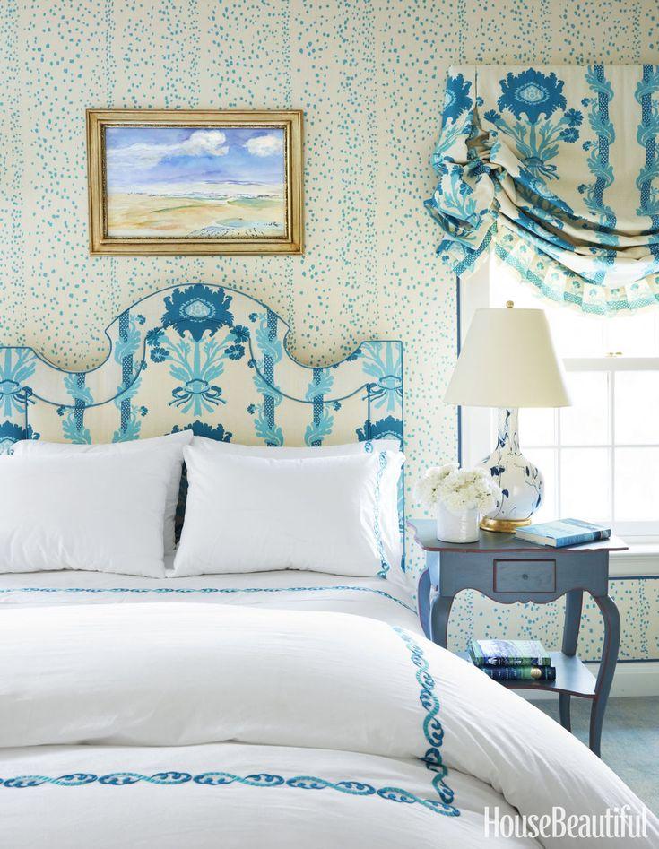Raffrollos, Fensterdekorationen, Schöne Schlafzimmer, Romantische  Schlafzimmer, Blau Weiß Schlafzimmer, Aqua Zimmer, Weiße Zimmer,  Schlafzimmer, Kissen