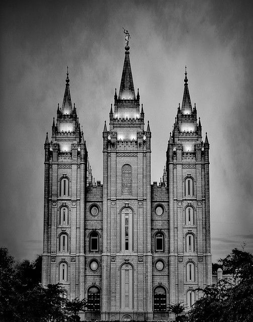 Black and White Salt Lake Temple
