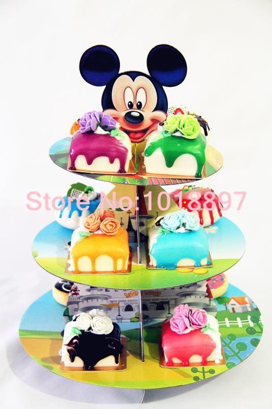 2 комплект мальчик в комикс микки день рождения младенцы душ ну вечеринку картон кекс стойка держать 24 кексы AW 1003 купить на AliExpress