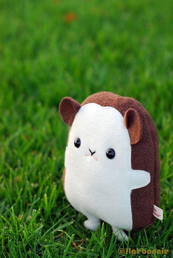 Hedgehog Plush Flat QT Hedgehog / Classic  8 tall  by FlatBonnie on Etsy, USD$20.00