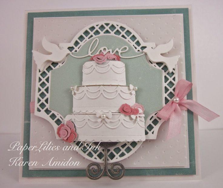 Card cake love dove impression obsession rubber stamps - Impression gateau ...