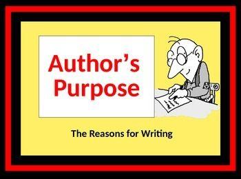 154 best author s purpose