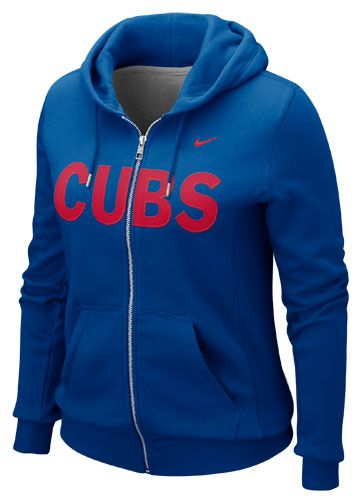Chicago Cubs Ladies Royal Classic Full Zip Hoodie by Nike | Sports World Chicago $69.95