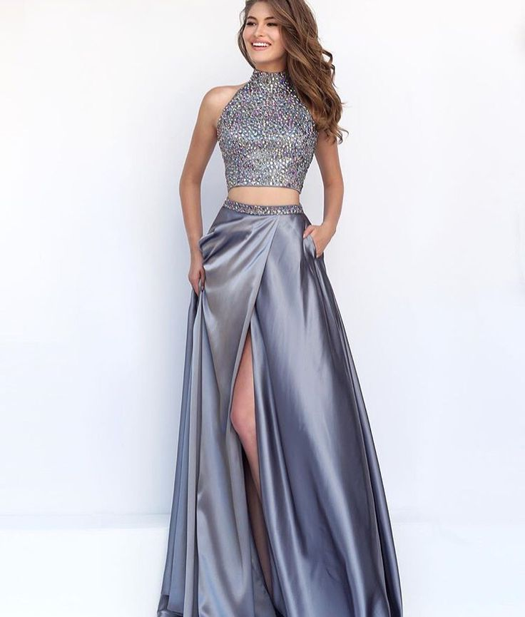 Metallic Silver Prom Dresses Prom Dresses Vicky