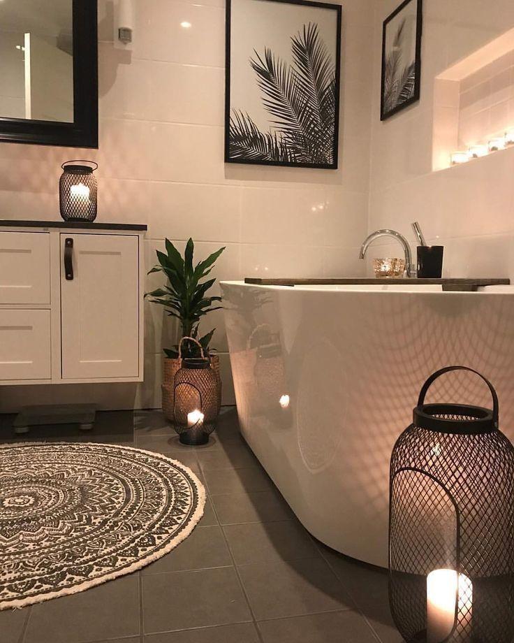 kleines #Badezimmer #schwarz #weis #Einrichtung #dekorieren #Ideen