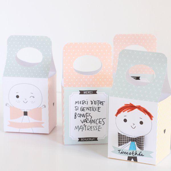 Des boîtes de cadeaux apstel / Gift box pastel
