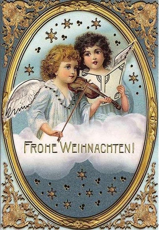 Christmas Post Сards ( Germany) — Musical Angels (555x1000):