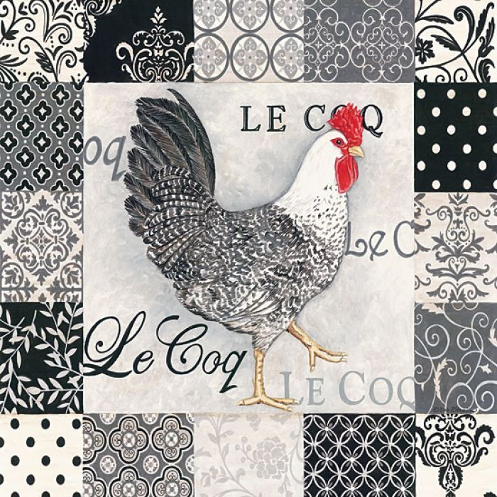 ROOSTER DECOUPAGE