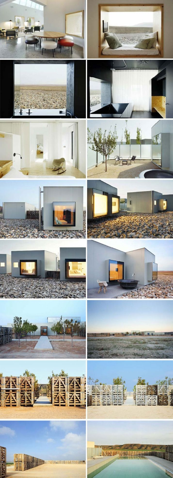 Hotel Aire de Bardenas in Spain  Beautiful hotel designed by Monica Rivera and Emiliano Lopez. Via Skaist Taylor