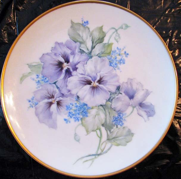 Image detail for -... Art Plus (formerly Chatty Teachers & Artists) - One Fire Pansy Plate