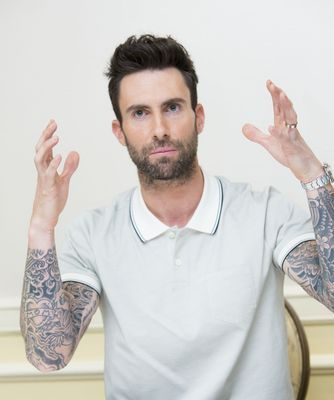 Maroon 5's Album Cover Inspired by 'Funny Face Filters' Adam Levine and Behati Prinsloo Exchange Daily | CelebPoster.com Blog #celebposter