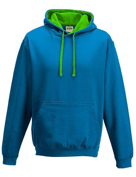 Varsity Hoodie - Sapphire Blue/Lime Green