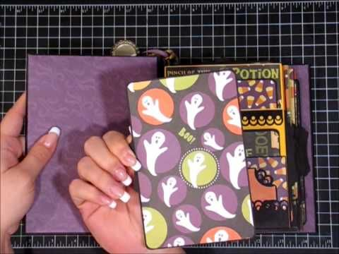Halloween Mini Album Kathy Ortas Build a Page style. Some great ideas to customize the add ons.