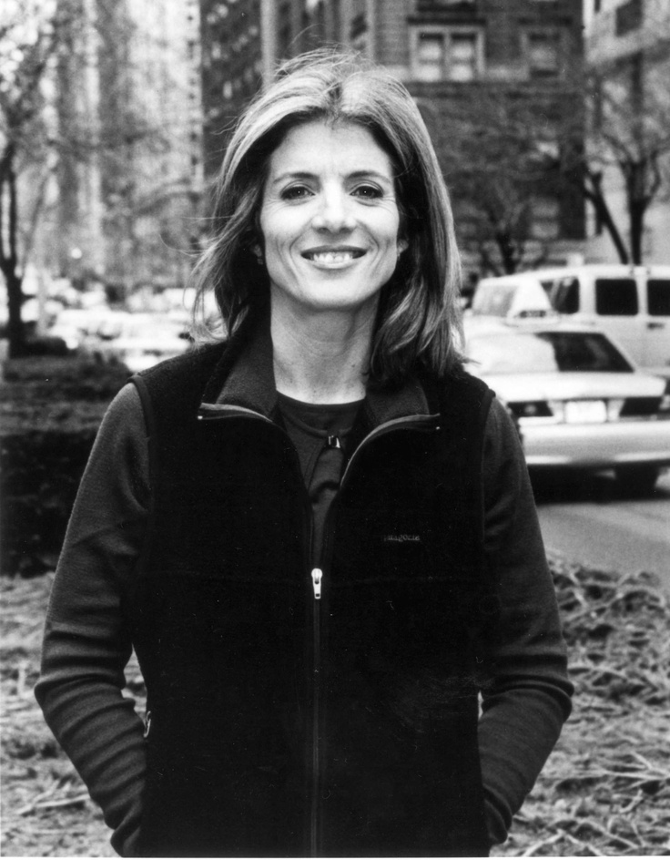 Caroline Kennedy Schlossberg. My hero right now because she's lost her whole immediate family too.