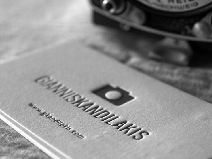 Photographers business cards by Letterpress Café.