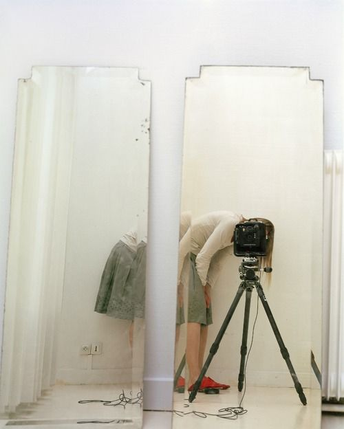 now this is a cool selfie ~ mpdrolet: Artist and Model Reflected in a Mirror, 2007 Elina Brotherus