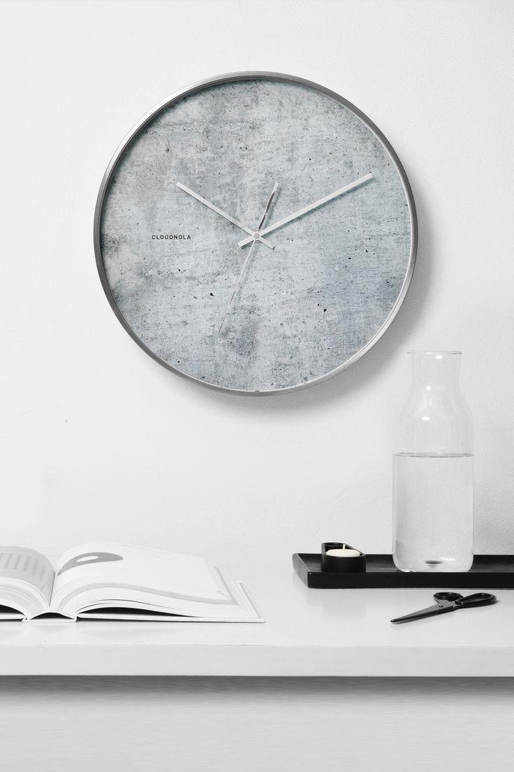 Structured Cement Wall Clock In 2020 Wall Clock Design Cement Walls Wall Clock Modern