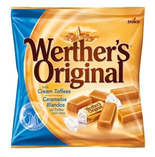 【ヴェルタースオリジナル ソフトキャラメル】ヴェルタースオリジナルは世界有数のキャンディメーカーであるドイツ ストーク社の製品です。昔、ヨーロッパの小さな村ヴェルターで、グスタフ・ネーベルという菓子職人により、純粋な原料だけを使用して仕上げた作品です。このヴェルタースオリジナル ソフトキャラメルは、高品質な原材料と伝統的な味を守りつつ、なめらかでクリーミーな味わいは世界中の多くの人に愛されています。