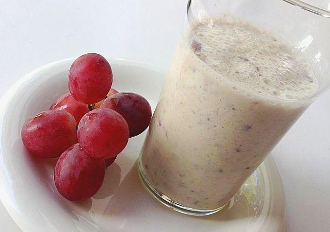 Batido de uva y avena para limpiar la sangre y bajar el colesterol