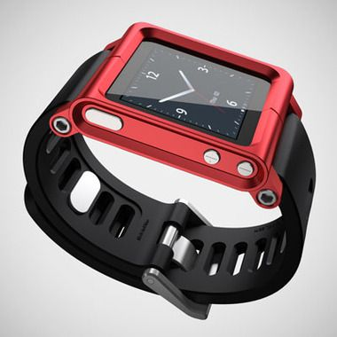 Red LUNATIK. Watch bands for the iPod nano.