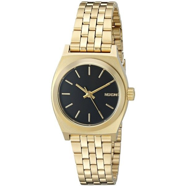 Nixon Women's 'Small Time Teller' Quartz Stainless Steel Casual Watch... ($100) ❤ liked on Polyvore featuring jewelry, watches, quartz jewelry, slim watches, stainless steel wrist watch, nixon wrist watch and quartz watches