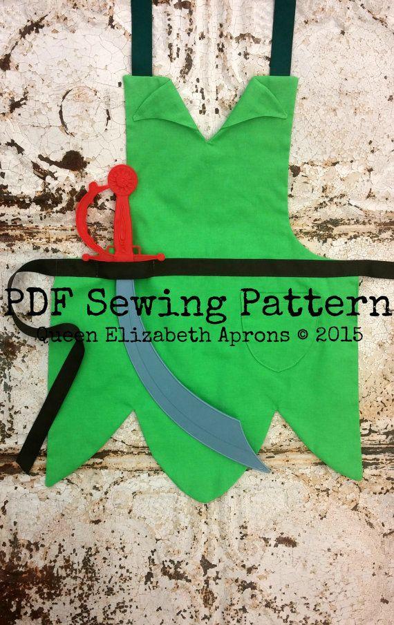 PETER PAN Pdf Sewing PATTERN. Disney Jr por QueenElizabethAprons