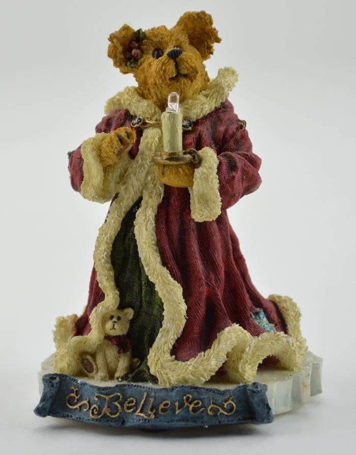 "BOYDS BEARS RESINS | Boyds Bears Resin Light-Up Figurine - ""Krystle B. Bearbright...Believe ..."
