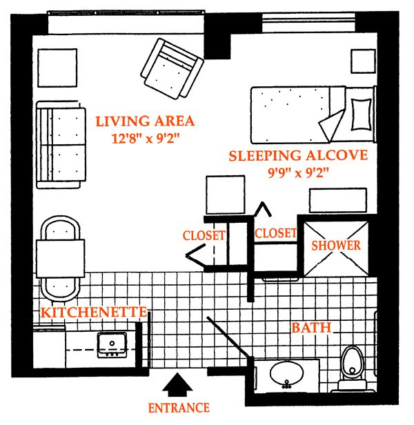 1000 images about housing vocabulary on pinterest for Studio apartment layout