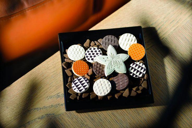 Esteban Paris home perfumes. Neroli scented ceramic set and dish.