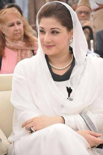 Maryam Nawaz Sharif //Maryam Nawaz Sharif ou plus simplement Maryam Nawaz, née le 28 octobre 1973 à Lahore, est une femme politique pakistanaise. Elle est la fille du dirigeant pakistanais Nawaz Sharif et est à ce titre pressentie pour devenir son successeur politique. Wikipédia