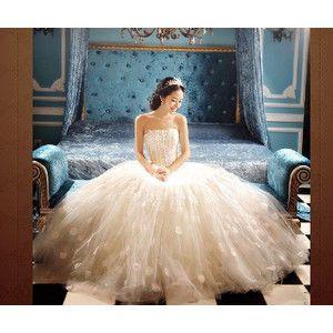 ダントツ人気 ウェディングドレス 格安販売◆パーティドレス 結婚式/二次会/披露宴 ◆優雅花嫁 レース ドレス HS118# wedding