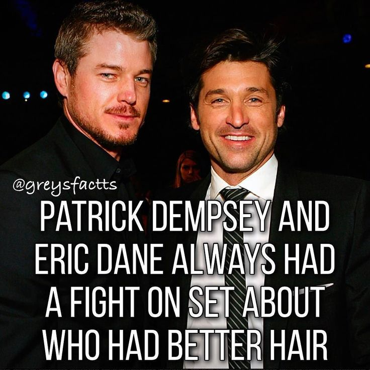 That's no contest. I love Mark, but Derek's hair was legendary.