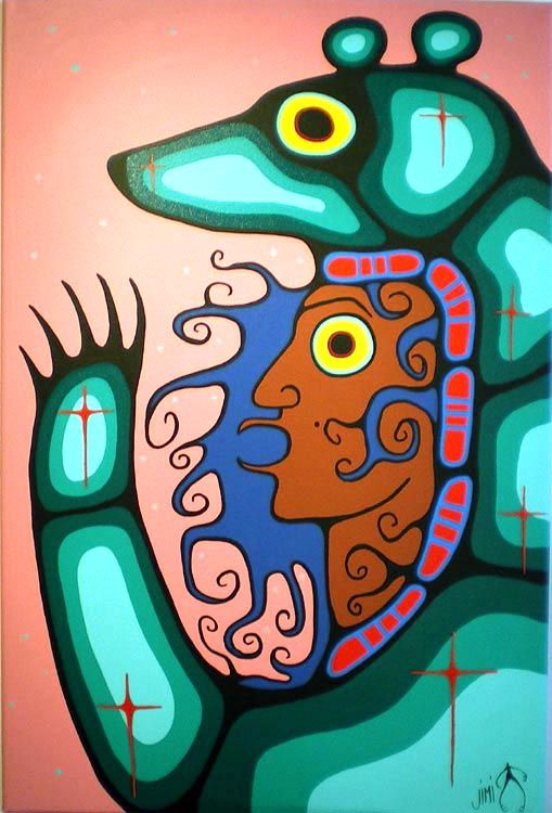 Bear Clan Spirit Woman - by Jim Oskineegish, Ojibwe artist from the Eabametoong First Nation