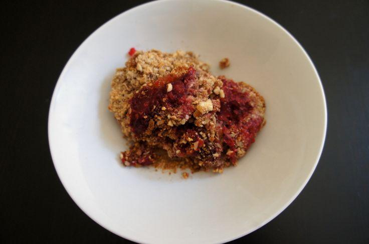 """Grain-Free """"Berry"""" Crisp, Take 2 (recipe testing for Ricki Heller)"""