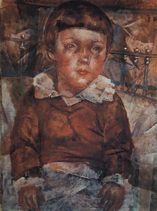 Kuzma Petrov-Vodkin: Lenushka in bed. 1926.
