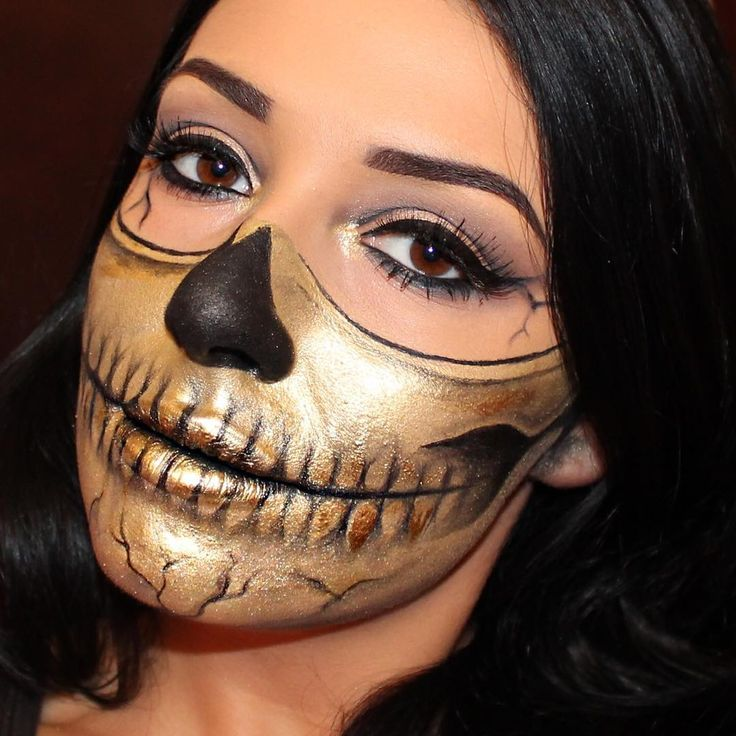 60 Terrifyingly Cool Skeleton Make-up Concepts to Attempt For Halloween