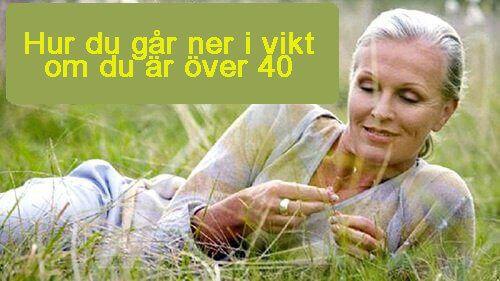 Viktminskningstips för kvinnor över 40