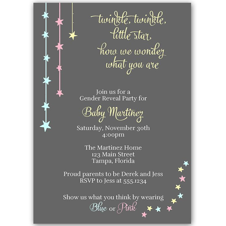 51 best images about Baby Shower Gender Reveal – Invitations for Gender Reveal Party