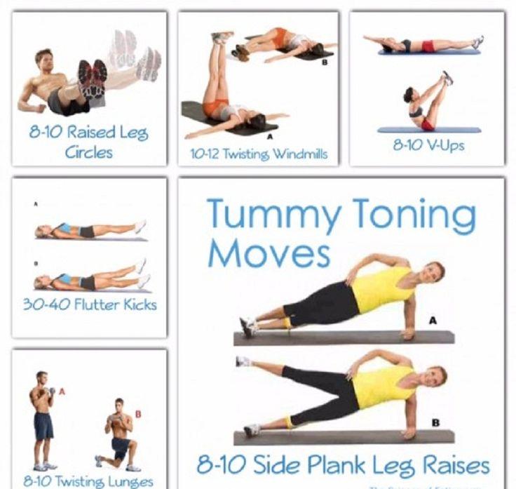 6 Awesome Tummy Toning Moves
