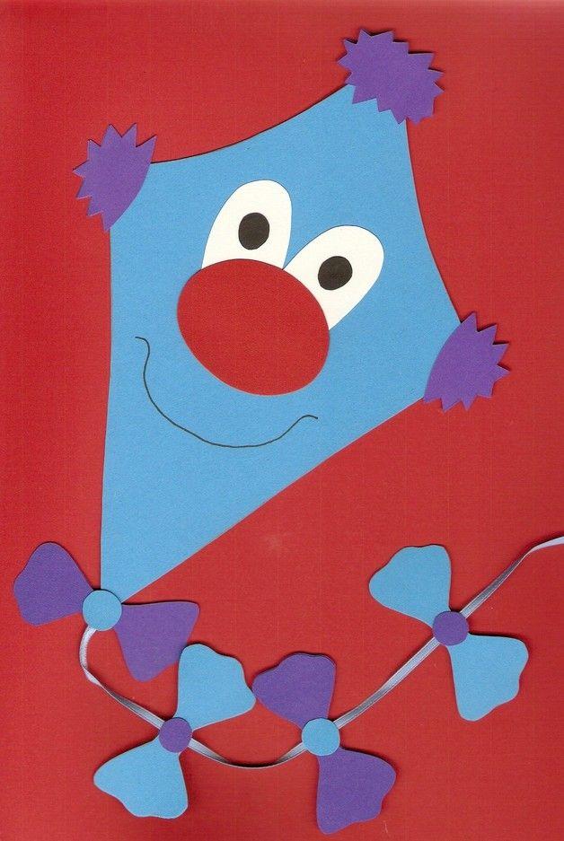 Tonkarton Fensterbild Drache-Drachen-blau